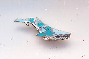 Bioluminescence Bryde's Whale (Star Shine) Glow in the Dark Enamel Pin