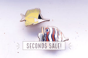 Copperband and Yellow Longnose Butterflyfish Pin Set (Seconds)