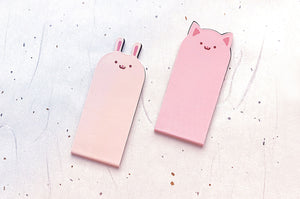 Bunny and Kitty Magnetic Bookmarks