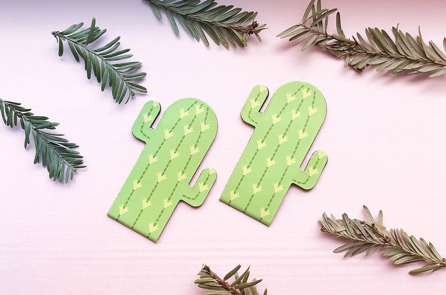 Cactus Magnetic Bookmarks