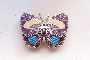 Aegina Numberwing Butterfly (Callicore lyca) Enamel Pin
