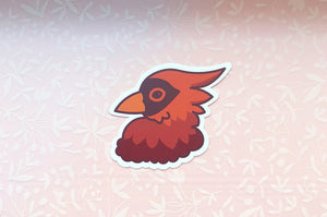 Cardinal Profile Vinyl Sticker