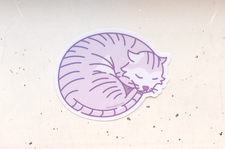 Sleepy Cat Vinyl Sticker