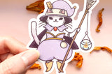 Kitty Witch Clear Vinyl Sticker