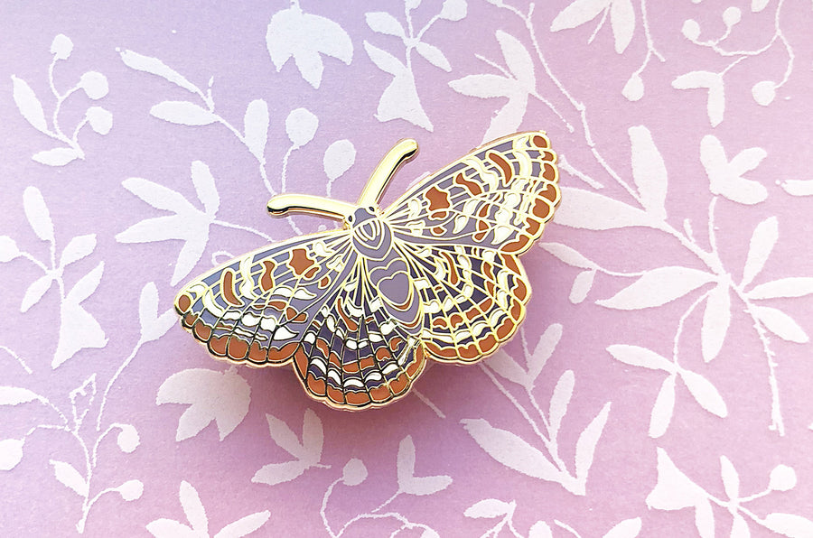 Checkerspot Butterfly Pin, Old Version (Seconds)