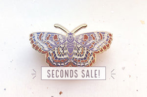 Checkerspot Butterfly Pin (Seconds)