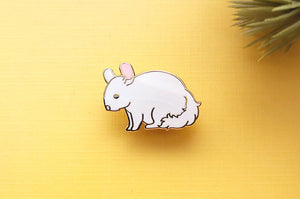 Sitting Chibi Chinchilla Enamel Pin