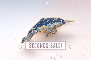 Cloudy Narwhal Oopsie Pin (Seconds)