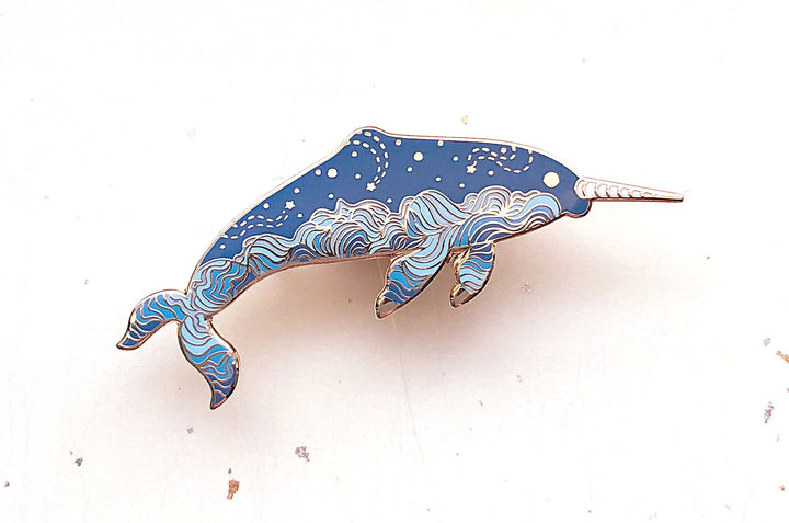 Cloudy Narwhal (Sky Farer) Enamel Pin