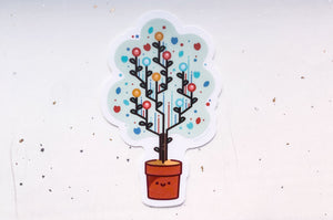 Code Tree Clear Vinyl Sticker