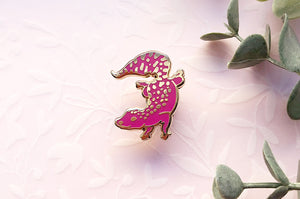 Color Changing Leopard Gecko Enamel Pin