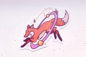 Cosmic Fox Clear Vinyl Sticker