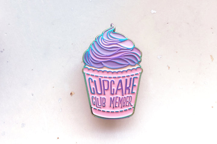 Rainbow Cupcake Club Pin