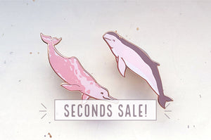 Amazon River Dolphin and Australian Snubfin Dolphin Pin Set (Seconds)