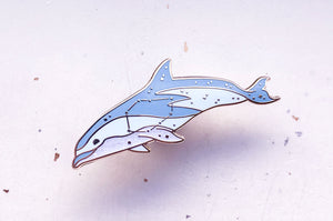 Vela Constellation Dusky Dolphin Pin
