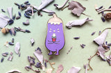 Eggplant and Best Egg Enamel Pin
