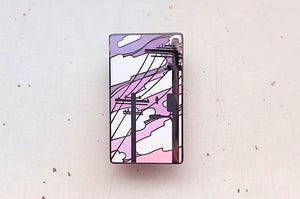 Electric Trees Vaporwave Enamel Pin