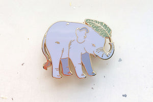 Baby Asian Elephant Enamel Pin