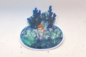 Fairy Terrarium Bowl Vinyl Sticker