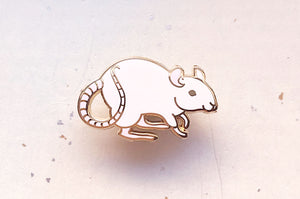 Fancy Rat Enamel Pin