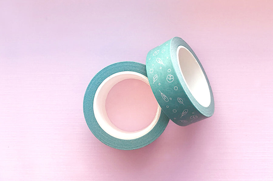 Flower and Feathers Washi Tape