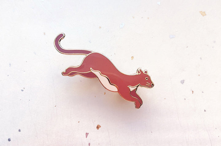 Fossa Mongoose Enamel Pin