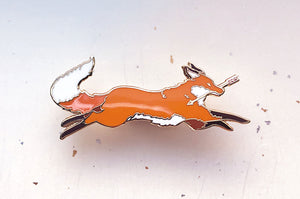 Red Fox Thief Enamel Pin