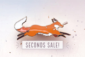 Red Fox Thief Enamel Pin (Seconds)