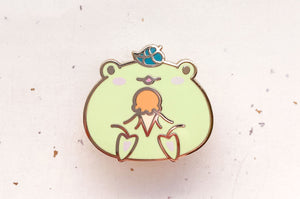 Gogo the Frog and Ice Cream Cone Enamel Pin