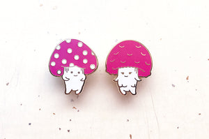 Fun Guy and Fun Girl Color Changing Enamel Pin Set