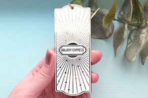White and Gold Galaxy Express Train Ticket Charm (Seconds)