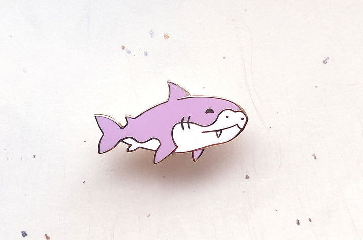 Chibi Great White Shark Enamel Pin