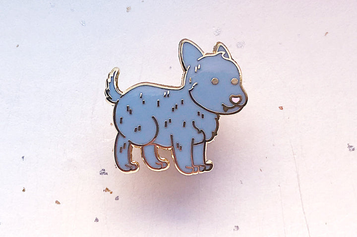 Chibi Ink Puppy Enamel Pin