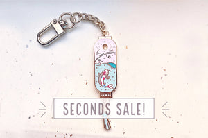 Starry Koi Lantern Keychain Charm (Seconds)