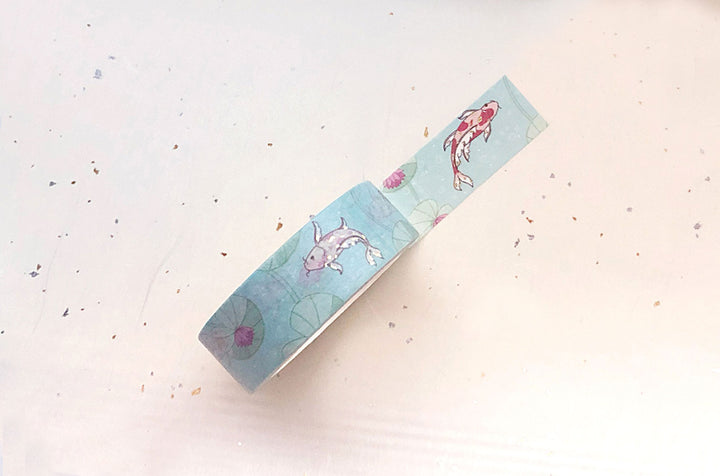 Koi and Water Lilies Washi Tape
