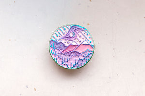 Lunar Ascension Enamel Pin