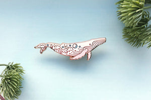 Star Surf Humpback Whale (The Migaloo / Sea and Sky) Pin