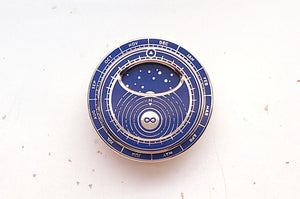 Blue Mini Planisphere Enamel Pin
