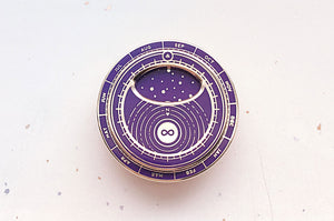 Purple Mini Planisphere Enamel Pin