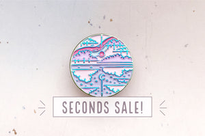 Mirror Sky Enamel Pin (Seconds)