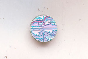 Mirror Sky Enamel Pin