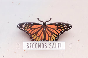 Monarch Butterfly Enamel Pin (Seconds)