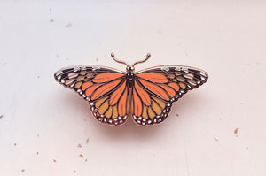 Monarch Butterfly (Danaus plexippus) Enamel Pin (LE Gold)