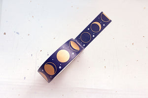 Moon Phases Gold Foil Washi Tape