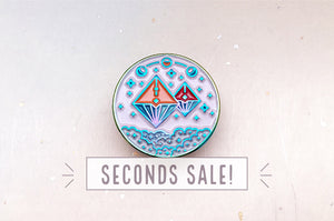 Moon Sisters Enamel Pin (Seconds)