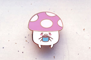 Mushy Hot Cocoa Enamel Pin