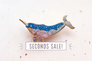 Starry Narwhal Pin (Seconds)