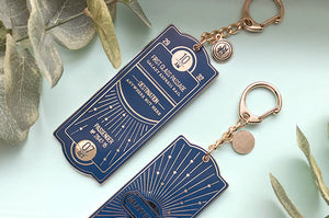 Navy and Gold Galaxy Express Train Ticket Charm (Seconds)