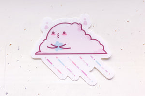 Pastel Cloud Clear Vinyl Sticker