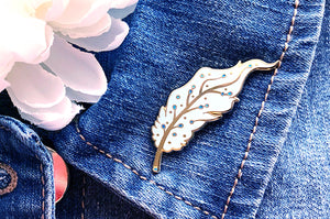 Pegasus Feather Glitter Pin